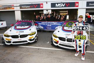 Jack is crowned 2018 British GT-4 Champion at Donington