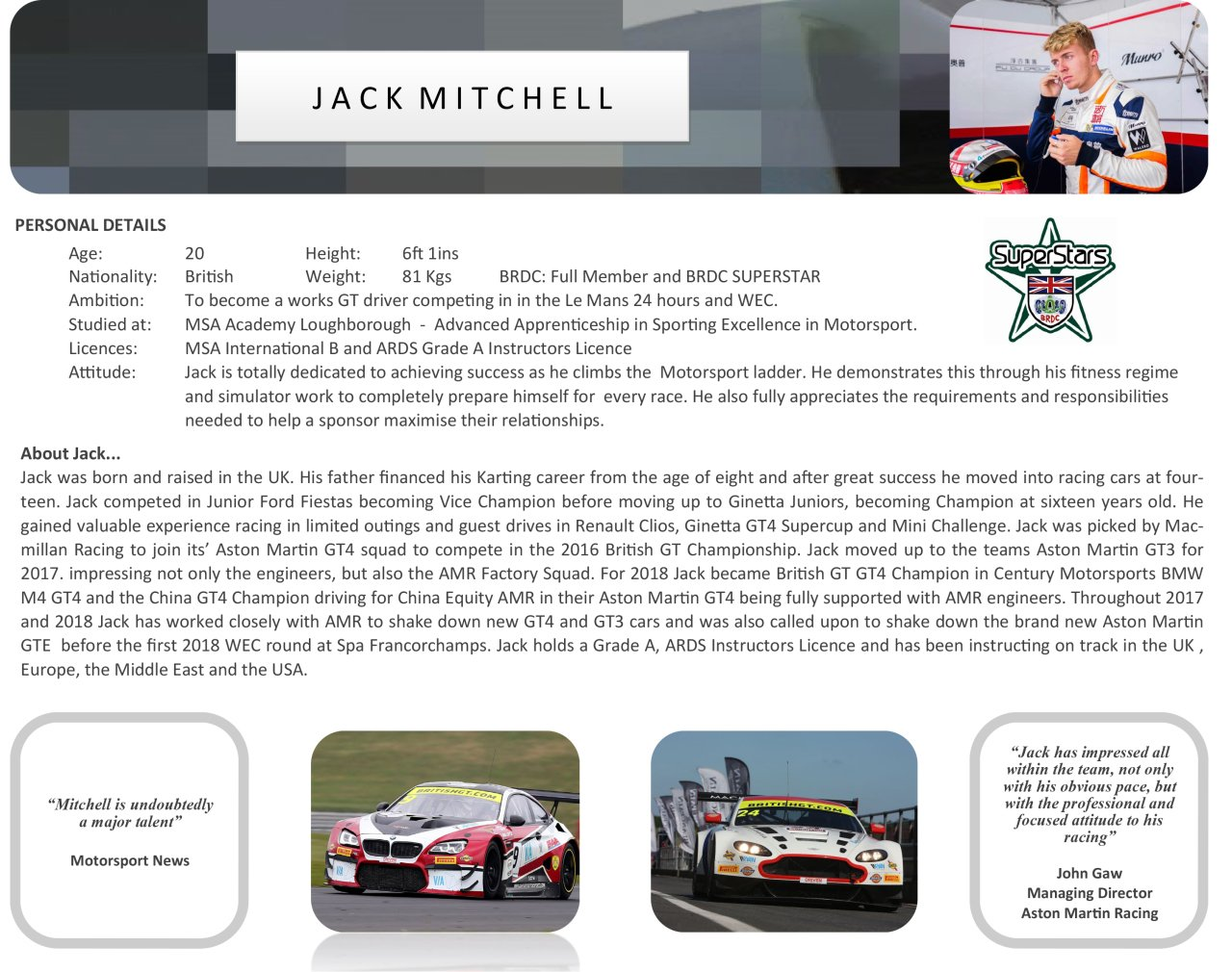 Jack Mitchell Career Personal Details